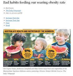 Bad habits feeding our soaring obesity rate  http://wellnesscentresydney.com/2012/07/18/bad-habits-feeding-our-soaring-obesity-rate-australia/