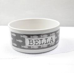 personalised pet bowl by tilliemint loves | notonthehighstreet.com