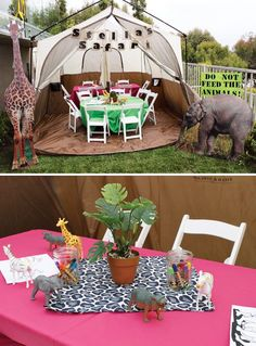 Safari birthday party table design