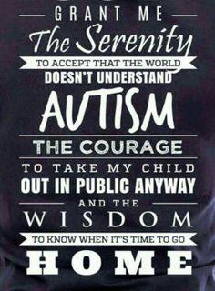 Autism prayer