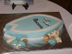 I guess the boys deserve cakes too! Surfboard Cake, Cake Decorating, Decorating Ideas, Rehearsal Dinners, Wonderland, Groom, Wedding Ideas, Cakes, Birthday
