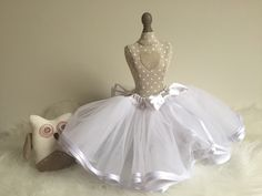 Spódniczka tiulowa biała idealna na chrzest i inne okoliczności:)