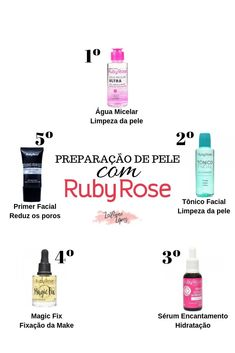 Preparation of oily skin for makeup with Ruby Rose, Glam Makeup, Skin Makeup, Makeup Tips, Beauty Care, Beauty Hacks, How To Make Hair, Make Up, Ruby Rose, Tips Belleza