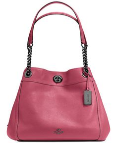 59508001ae7b7 Meilleurs Sacs à main   COACH Turnlock Edie Shoulder Bag in Pebble Leather