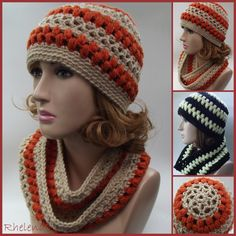 Lace and Puff Stitch Hat and Cowl ~ free pattern