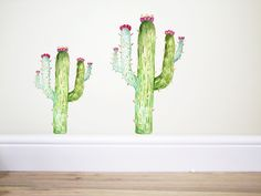 Cactus Wall decal, Plant sticker,cactus decal,botanical decor,wild west decor,tribal decal,cowboys and Indian decor,flower decal, cactus art by TheWoodlandHaven on Etsy
