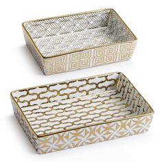La Cite Gold Nesting Catchall Trays - Set of Two - Waiting On Martha - 1