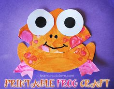 { Printable Orange Frog Craft }