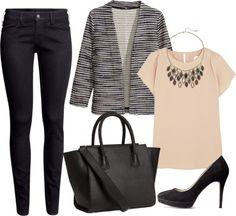 Calças – H&M   Casaco – H&M   Blusa – REDValentino   Bolsa – H&M   Sapatos – H&M   Colar – Accessorize