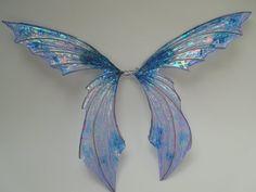 Big Blue Fairy Wings by Ravenwolfslayer.deviantart.com on @deviantART