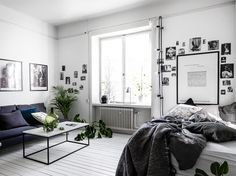 Monochrome studio apartment