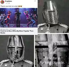 Historical Memes and Jokes; I don't actually want a crusade, but I still found this funny. New Memes, Dankest Memes, Fuuny Memes, We Are Number One, Funny Jokes, Hilarious, Funny Gifs, Wtf Funny, Jokes