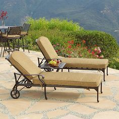 Savannah Outdoor Aluminum 3 Piece Chaise Set