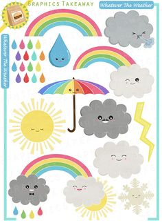 Whatever The Weather Clipart/ Digital Collage (Commercial use license)