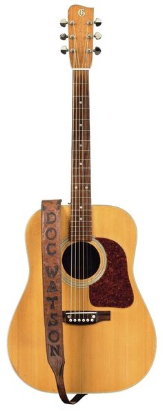 """A Gallagher Guitar Co. G-50 guitar, known as """"Ol' Hoss,"""" was once owned by Doc Watson. It carries a presale estimate of $6,000 to $8,000"""