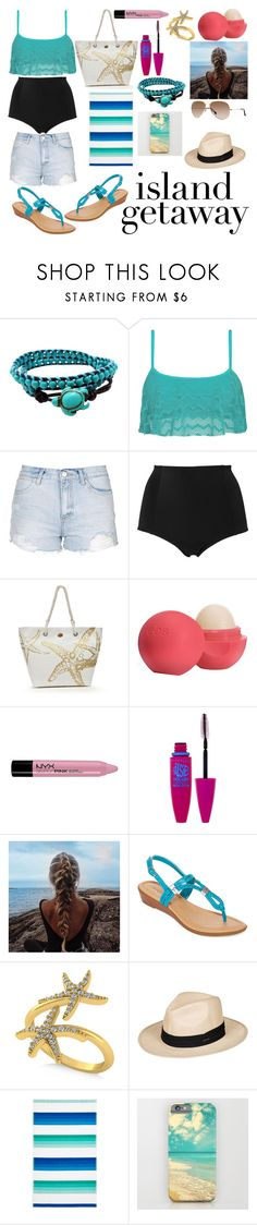 """Untitled #157"" by usafdaughter ❤ liked on Polyvore featuring AeraVida, Roxy, Topshop, Monki, Kim Rogers, Eos, NYX, Maybelline, East Fifth and Allurez"