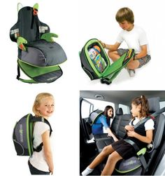 A good way to travel with a child who needs a booster seat