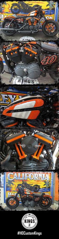 California Harley-Davidson built this 2016 Forty-Eight to honor the their 40th Anniversary.   Harley-Davidson #HDCustomKings