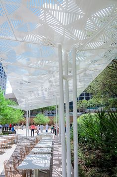Fareground | Austin, Texas, USA | dwg #shade #structure #custom #pattern #steel #landscapearchitecture #architecture #park #austin #texas #dwg