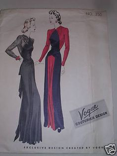Vogue couturier 350 (late 1930's/early 40's)