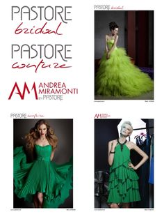 Green Dress - Pastore Bridal - Pastore Couture - Andrea Miramonti by Pastore #reddress #couture #fashion #couturedress #cocktaildress #partydress #eveningdress www.pastore.it