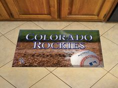 "MLB - Colorado Rockies Scraper Mat 19""x30"" - Ball"