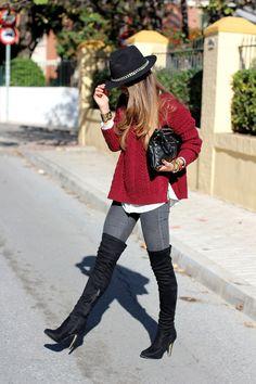 Jersey/Sweater – Oasap    Jeans – Zara (old)    Botas/Boots – Bershka (old)    Sombrero/Hat – Zara (FW 12-13)    Clutch – Mekdes