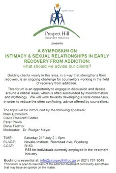 Flyer to invite people to an imposium. Image supplied by SACAP. Prospect Hill, Applied Psychology, Classroom Environment, Invite, Addiction, College, African, Learning, People