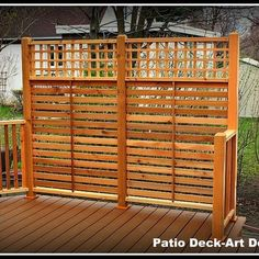 Deck Design Ideas, Pictures and Remodels--neat idea for privacy for a corner lot - Modern Design Hot Tub Privacy, Privacy Screen Deck, Outdoor Privacy, Backyard Privacy, Backyard Patio, Privacy Ideas For Deck, Garden Privacy, Fence Ideas, Whirlpool Deck