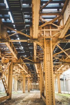 Underneath the Tracks/ Cityscape Chicago/ Stock Photo/ Blog Photo/ Fine Art Photography/Home Decor/Rust/Vanishing Point/Gritty/City Life