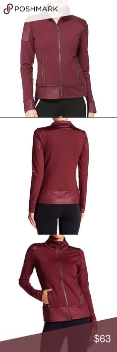 Alo Yoga Moto Jacket NEW BRAND NEW!! no tags. Plum and glossy ALO Yoga Tops Sweatshirts & Hoodies