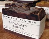 Cocoa Chocolate Truffle, All Natural Soap, Handcrafted Soap Bars
