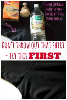 Before you throw out that shirt try this simple laundry hack to remove white and crusted underarm deodorant buildup easily.