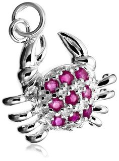 Sterling Silver Ruby Crab Charm « Holiday Adds