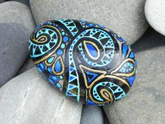 Egyptian Sea Goddess /Painted Sea Stone /Sandi by LoveFromCapeCod