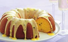 Passionfruit buttermilk syrup cake recipe - By Australian Women's Weekly, Passionfruit is an often underrated fruit but you won't be forgetting its sweet flavours anytime soon with this creamy buttermilk cake and syrupy passionfruit icing. Buttermilk Syrup, Buttermilk Cake Recipe, Mini Cakes, Cupcake Cakes, Bundt Cakes, Cupcakes, Baking Recipes, Cake Recipes, Dessert Recipes