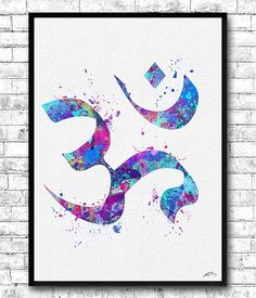 Instant Digital Download Ohm Symbol 3 Watercolor by ArtsPrint