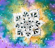 November Colors, Watercolor Background, Mandala, Challenges, Symbols, Peace, Stamp, Art, Icons
