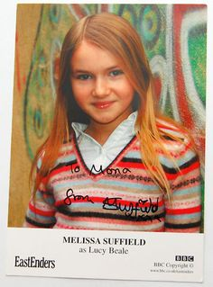 AUTOGRAPH Mellissa Suffield EASTENDERS Lucy Beale - Eastenders TV SOAP STAR