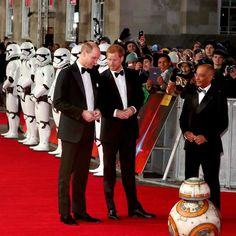 Yes, that is Princes William and Harry with stormtroopers and a droid on the red carpet for Star Wars #TheLastJedi. Nothing to see here, move along. via ✨ @padgram ✨(http://dl.padgram.com)