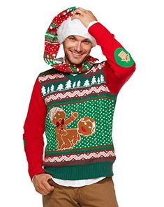 730e0ecd477db Spencer Gifts Light Up Ugly Christmas Sweater - Humping Gingerbread. . . .   pullover