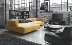 BoConcept makes modern furniture available to the international urban-minded customer, like myself. Here is what I'm loving for the living room, couch wise. City Living, Home And Living, Living Spaces, Living Rooms, Loft Design, House Design, Men Design, Home Interior Design, Interior Architecture