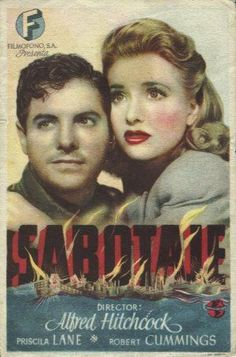 Saboteur | Movie & Film posters - Carteles de películas | Pinterest