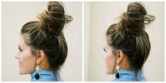 How To Do A Messy Bun Tutorial and Tips - Million Ways To Mother Are you a busy mom who needs a quick CUTE hair do or have you been dying to learn the top knot bun? Check out our tutorial on how to do a messy bun. Bun Hairstyles For Long Hair, Fast Hairstyles, Trendy Hairstyles, Wedding Hairstyles, School Hairstyles, Popular Hairstyles, Short Haircuts, Hair Dos, Wavy Hair