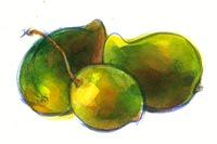 Three Mangoes Fruits And Veggies, Pear, Food, Fruits And Vegetables, Eten, Pears, Meals, Diet