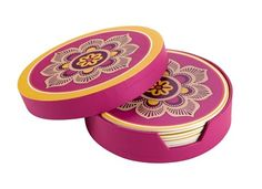 NWT Vera Bradley Set of 8 Coasters in Storage Case. Starting at $5 on Tophatter.com!