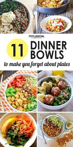 11 Dinner Bowls To Make You Forget All About Plates- From breakfast to salad to lunch and dinner- Recipe ideas for all diet styles!