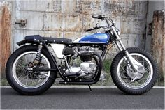 A super-classy custom tracker-style motorcycle from M of Japan, based on a 1967 Triumph T120R.