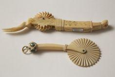 Scrimshaw - Scrimshaw Sailor Made Pie Crimpers, circa 1830