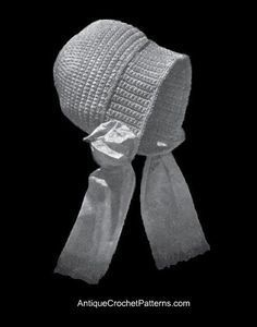 Dutch Vintage Baby Bonnet - Free Crochet Baby Bonnet Pattern